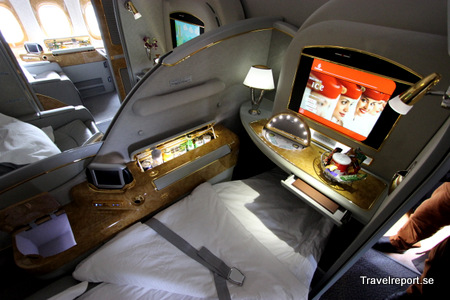 Emirates first class seat on Boeing 777